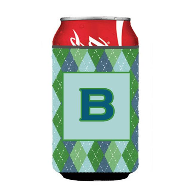 Letter B Initial Monogram - Blue Argoyle Can or Bottle  Hugger - image 1 of 1