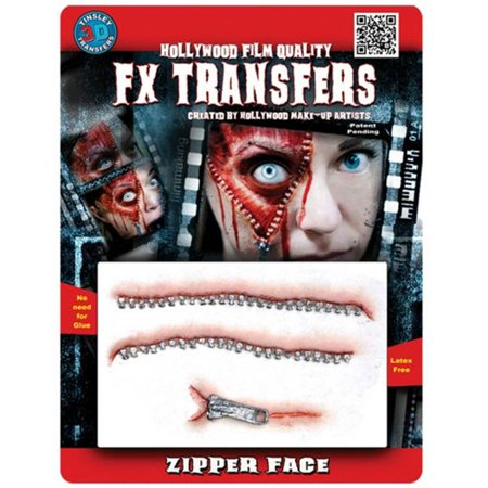 Costumes for all Occasions DFXM515 Zipper Face 3d Prof