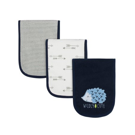 Carters Burp Cloth (Gerber Assorted Terry Burp Cloth Set, 3pk (Baby Boys) )