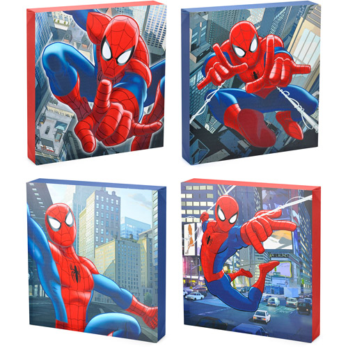 Marvel Spider Man 4 Piece Canvas Wall Art