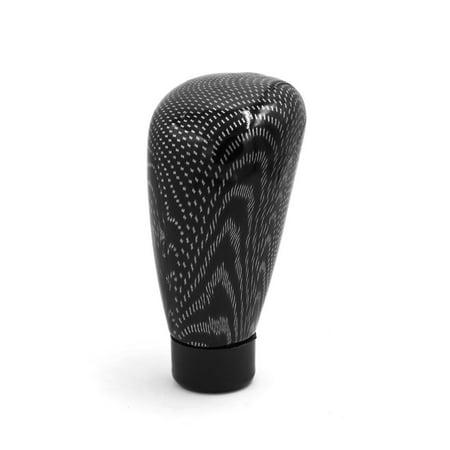 Universal Carbon Fiber Print Manual Shift Knob Lever Gear Stick Shifter Black