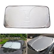 59''x31'' Windshield Sun Shade Front Window Sunshade Windscreen Cover UV Rays Sun Visor Protector Foldable for Car Windshield Will Keep Your Vehicle Cooler