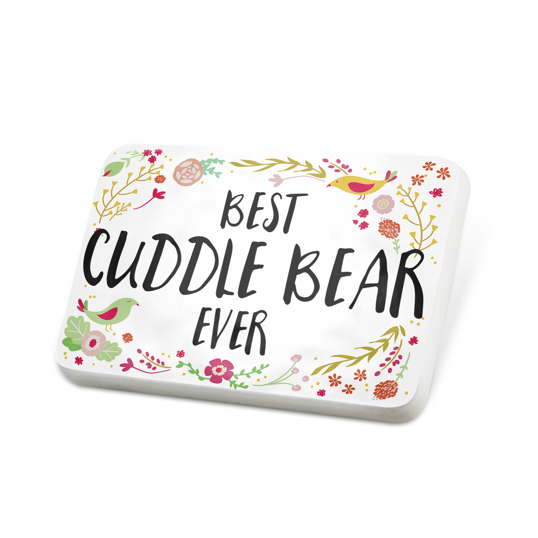 Porcelein Pin Happy Floral Border Cuddle Bear Lapel Badge – NEONBLOND