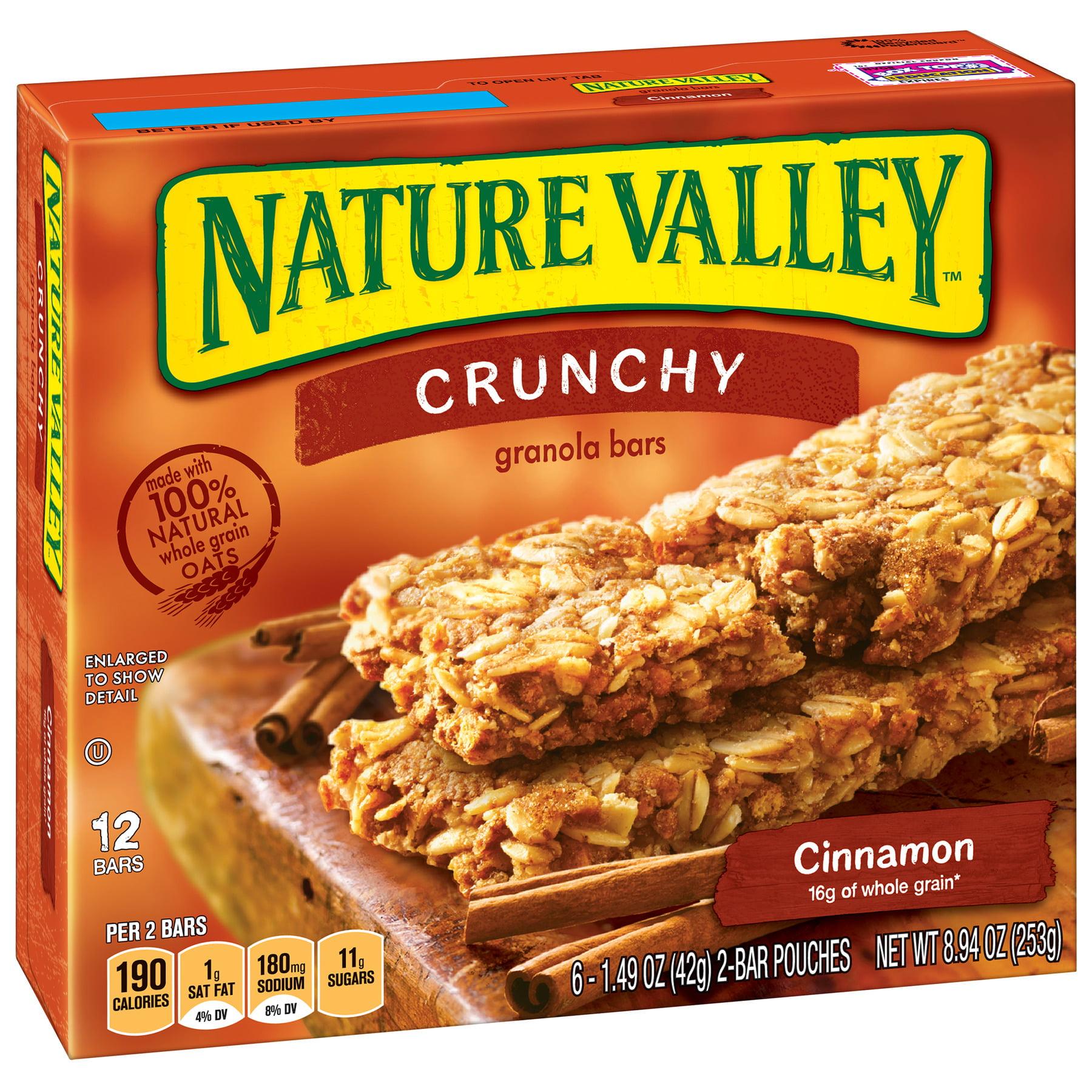 (3 Pack) Nature Valley Cinnamon Crunchy Granola Bar 12 Bars, 8.94 oz