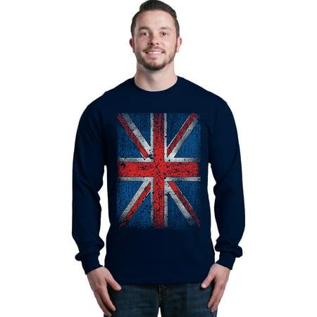 Shop4Ever Men's Union Jack British Flag UK Long Sleeve Shirt (Sonnenbrille Rabatten Uk)