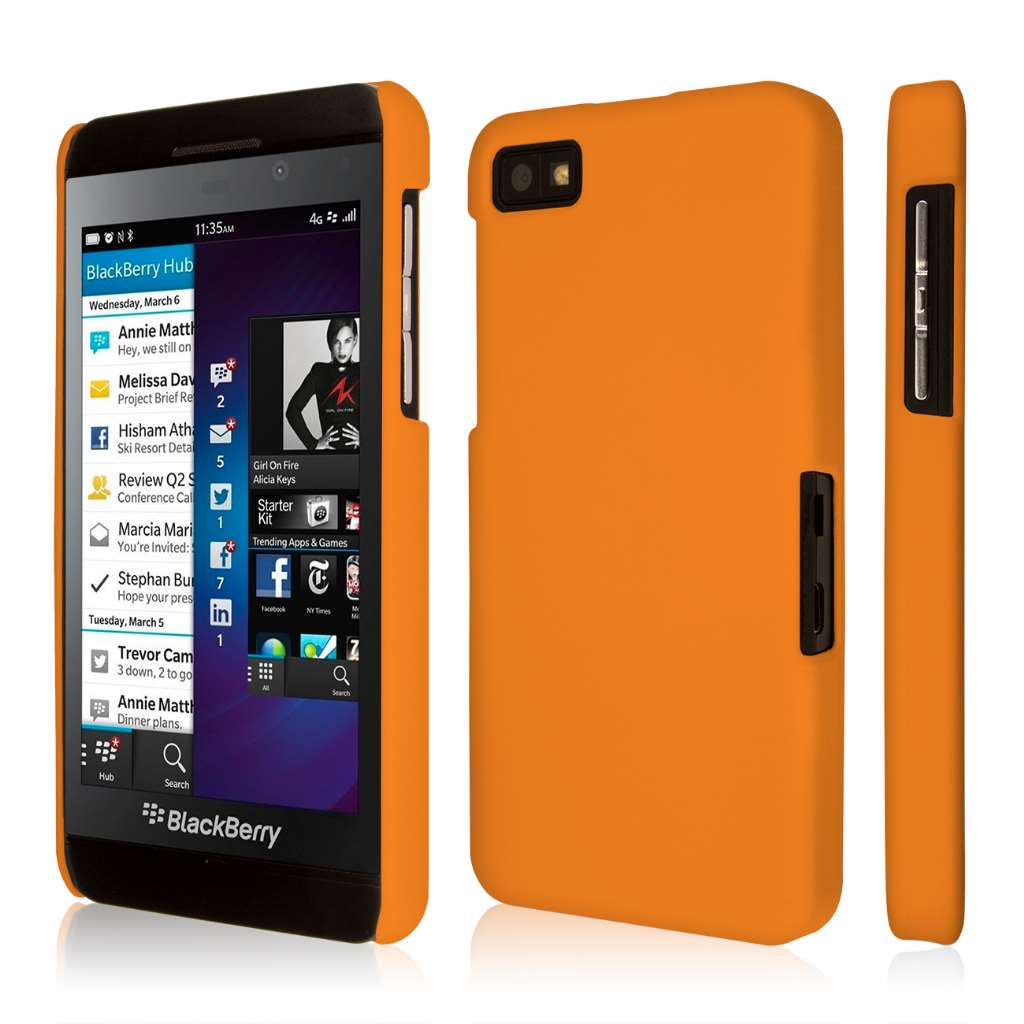 Blackberry Z10 Case, EMPIRE KLIX Slim-Fit Hard Case for Z10 - Soft Touch Orange (1 Year Manufacturer Warranty)