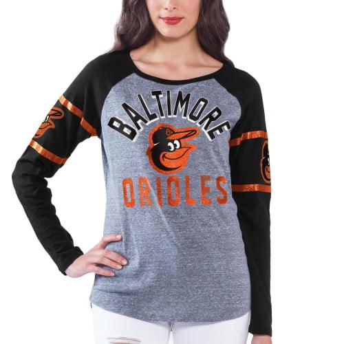 Baltimore Orioles Women's Baserunner Long Sleeve T-Shirt - Gray