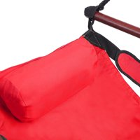 Zaqw H2 Well-equipped S-shaped Hook High Strength Assembled Hanging Seat Cacolet Red