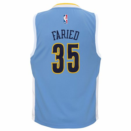 Authentic Nba Basketball Jersey - Kenneth Faried Denver Nuggets NBA Adidas Toddler Light Blue Official Road Replica Basketball Jersey