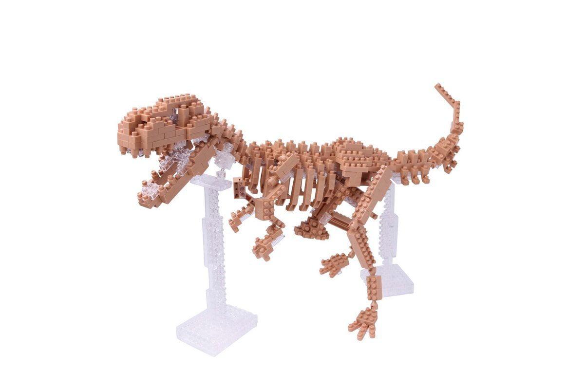 Nbm012 Nb T-Rex Skeleton Model Building Kit, coloured using soy ink By Nanoblocks by
