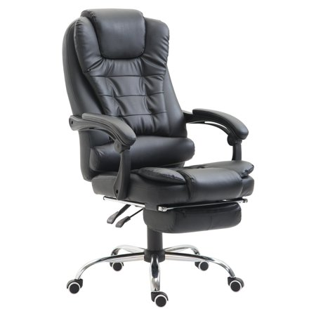HOMCOM High Back Reclining PU Leather Executive Office Chair with Footrest