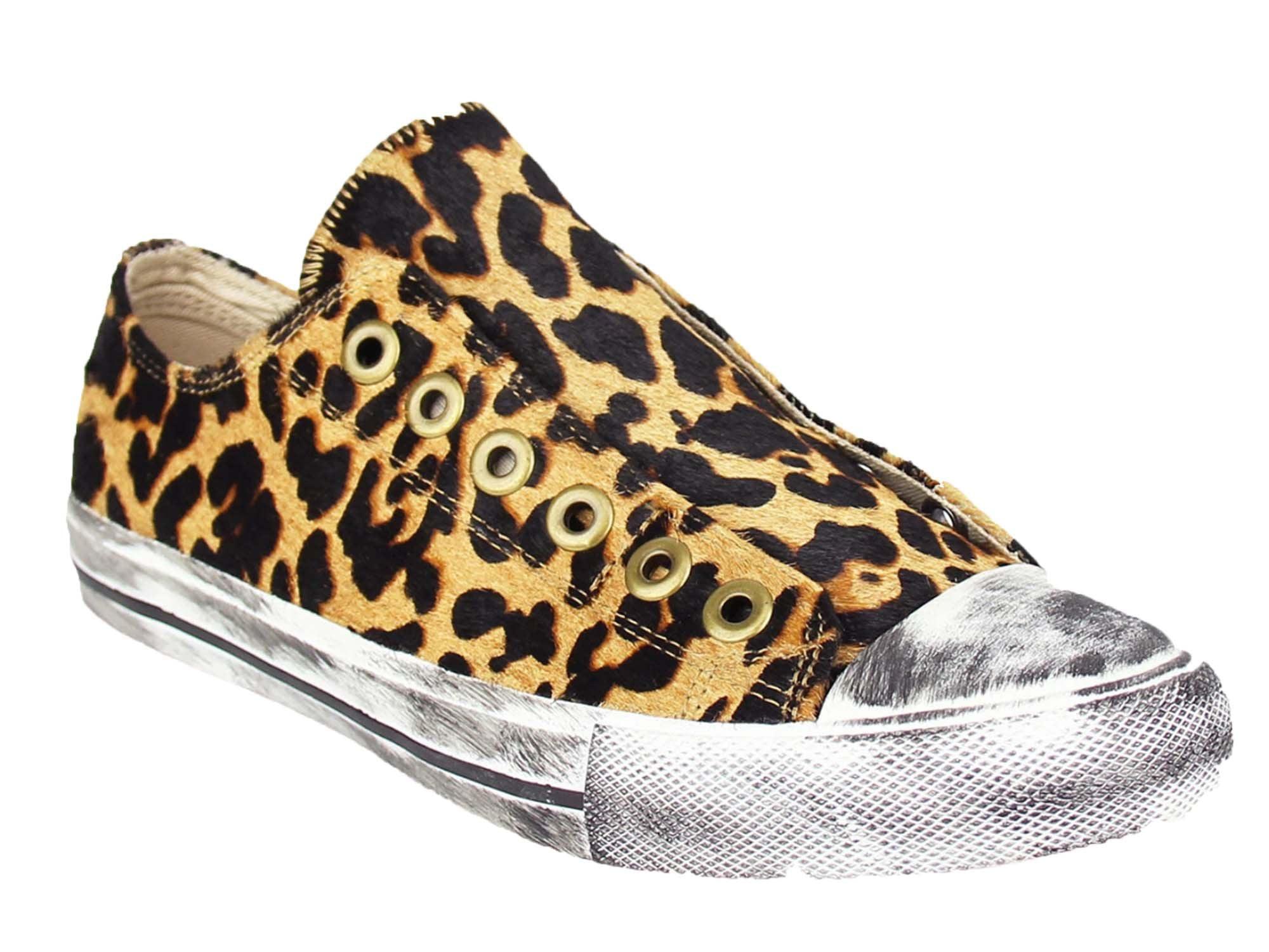 leopard slip on sneakers walmart