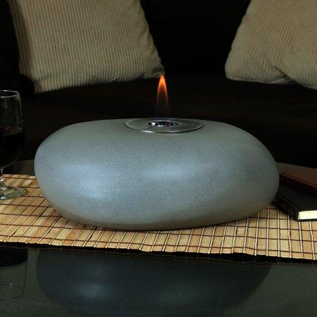 Astounding Sunnydaze Decorative Rock Tabletop Fireplace Indoor Ventless Bio Ethanol Fire Pit Long Lasting Burn Time 14 Inch Download Free Architecture Designs Scobabritishbridgeorg