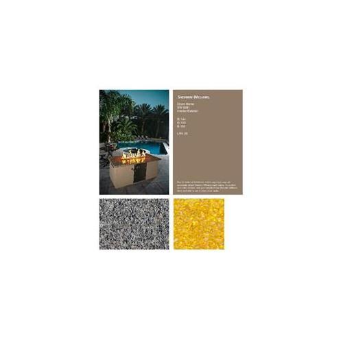 Pits By Design LP-NC-6081-LD New Calendonia Down Home Lemondrop Liquid Propane Fireplace