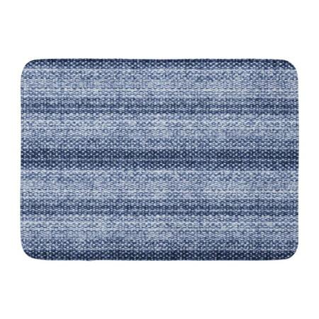 GODPOK White Graphic Blue Creative Abstract Brushed Striped in Tweed Flecks Navy Flecked Indigo Rug Doormat Bath Mat 23.6x15.7 inch
