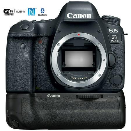 Canon EOS 6D Mark II 26.2MP Full-Frame DSLR Camera (Body) + BG-E21 Battery
