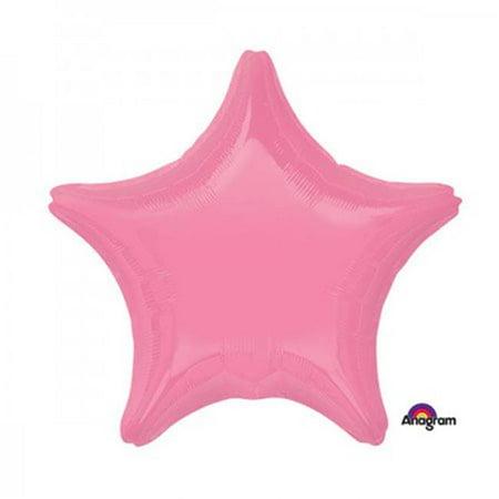 Anagram 82727 19 in. BRT Bubblegum Pink Star Balloon - Pack of 5 - image 1 de 1