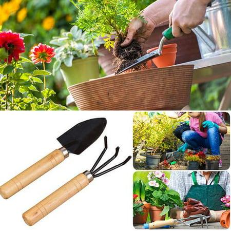 2 Pcs Home Gardening Tool Sets Flower Vegetables Succulent Planting Shovel Scoop Cute Small Rack Com