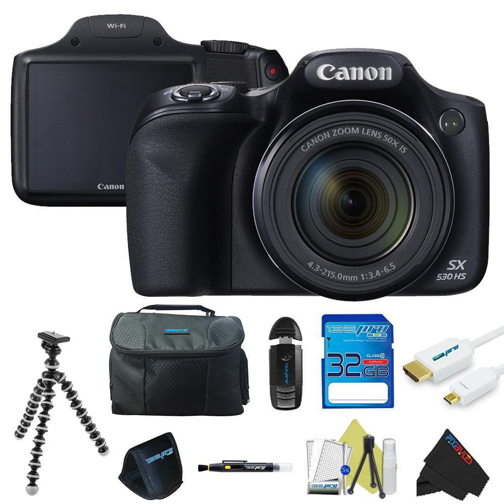 Canon Powershot SX530 HS 16.0 MP Digital Camera + Pixi-Ba...