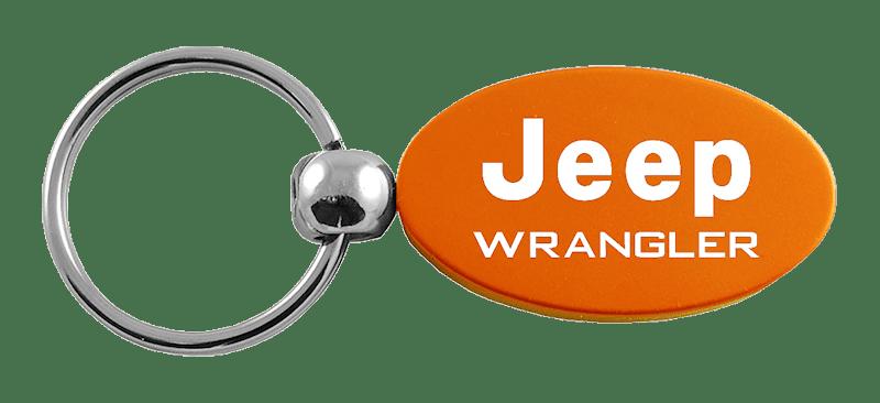 Au-Tomotive Gold INC Jeep Grill Oval Style Metal Key Chain Key Fob