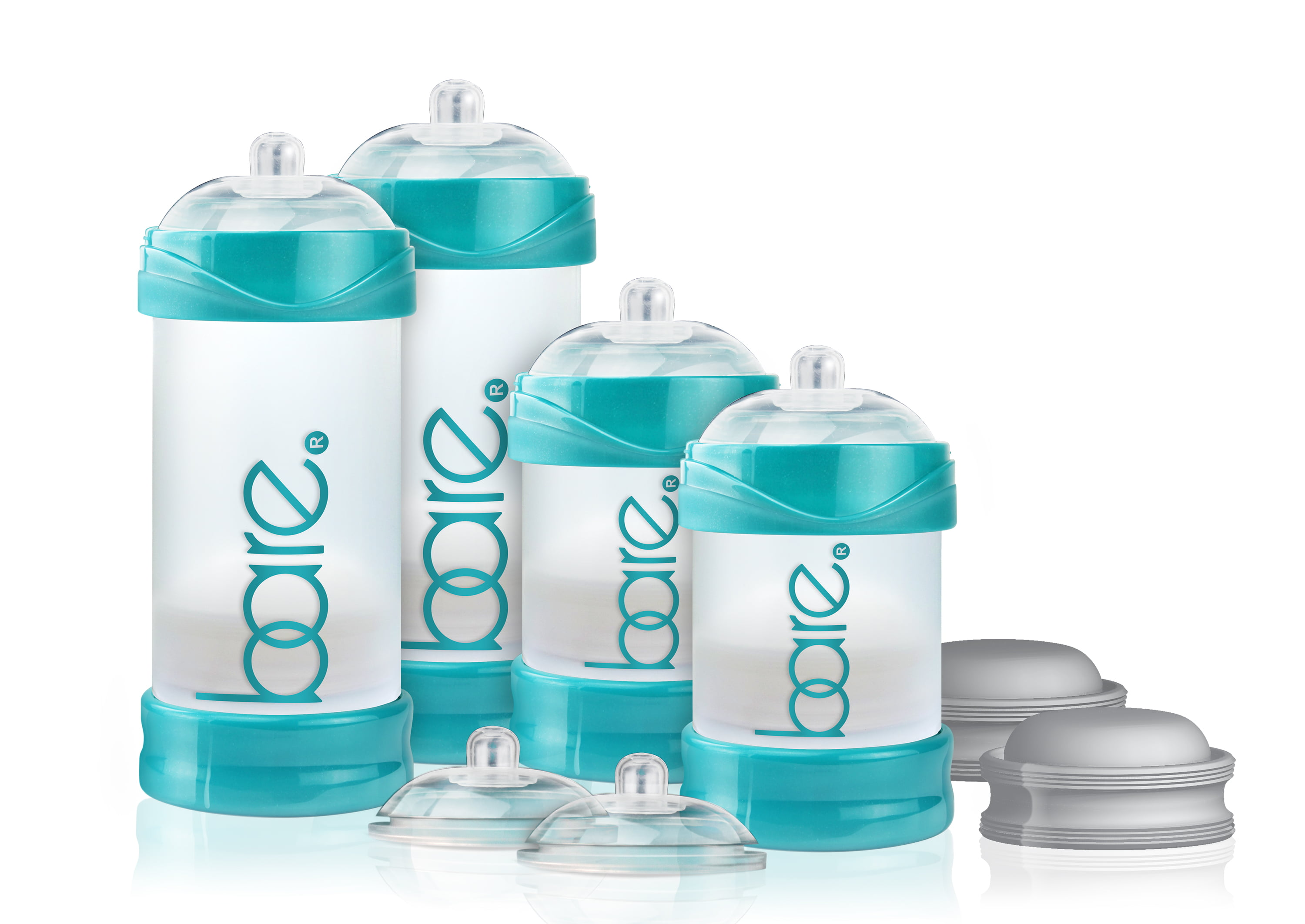 Bare Air-Free Feeding System Starter Set With Perfe-Latch Nipple. 0-24 Months by BARE AIR-FREE FEEDING SYSTEM