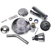 Quality Home Items 125024 Mixet Tub-Shower Trim Kit Acrylic Handle Brushed Nickel