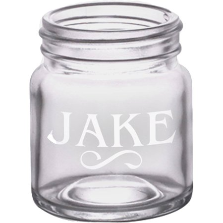 Personalized 2 oz. Mini Mason Jar Shot Glass, Holds 2oz - Personalized Shot Glass No Minimum