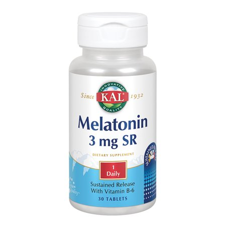 Sustained Release 30 Tablets (Melatonin-3 Sustained Release 3 mg By KAL - 30  Tablets)