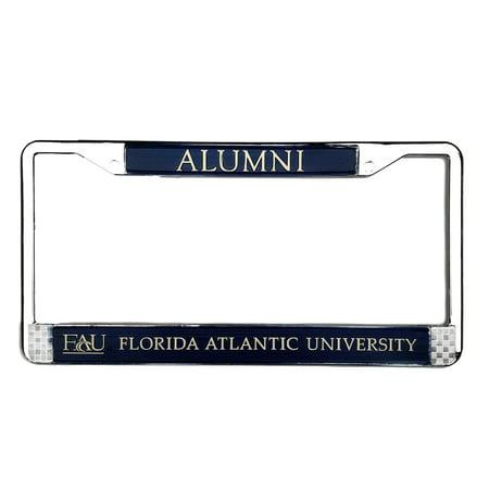 Florida Atlantic University (FAU) Alumni Chrome Metal License Plate Frames Alumni Chrome Frame