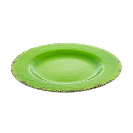 Jazz up your kitchen display cabinet with this green decorative plate. Its dark rustic speckles add style. (Metal Plate For Kitchen Cabinet)