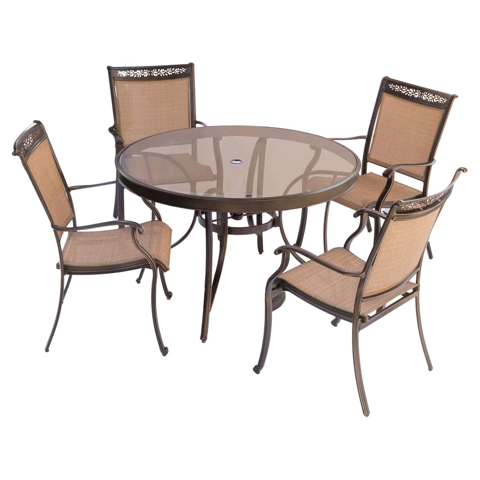 Hanover Fontana 5-Piece Outdoor Dining Set
