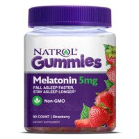 Natrol Melatonin Gummies, Strawberry flavor, 5mg, 90 Count