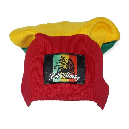 BOB MARLEY Color Blocking Tam Hat Beanie Red](Tam Hat)