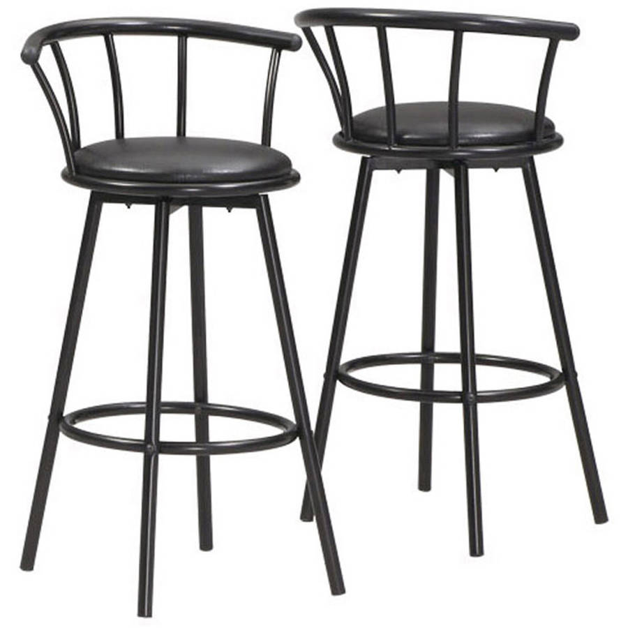"Monarch Barstool, 2-Piece, 36""H, Swivel, Black Metal"