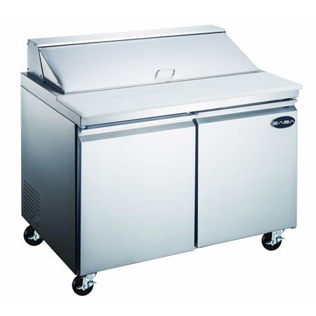 """Heavy Duty Commercial 60"""" (2 Door) Sandwich/Salad Prep Table Refrigerator"""