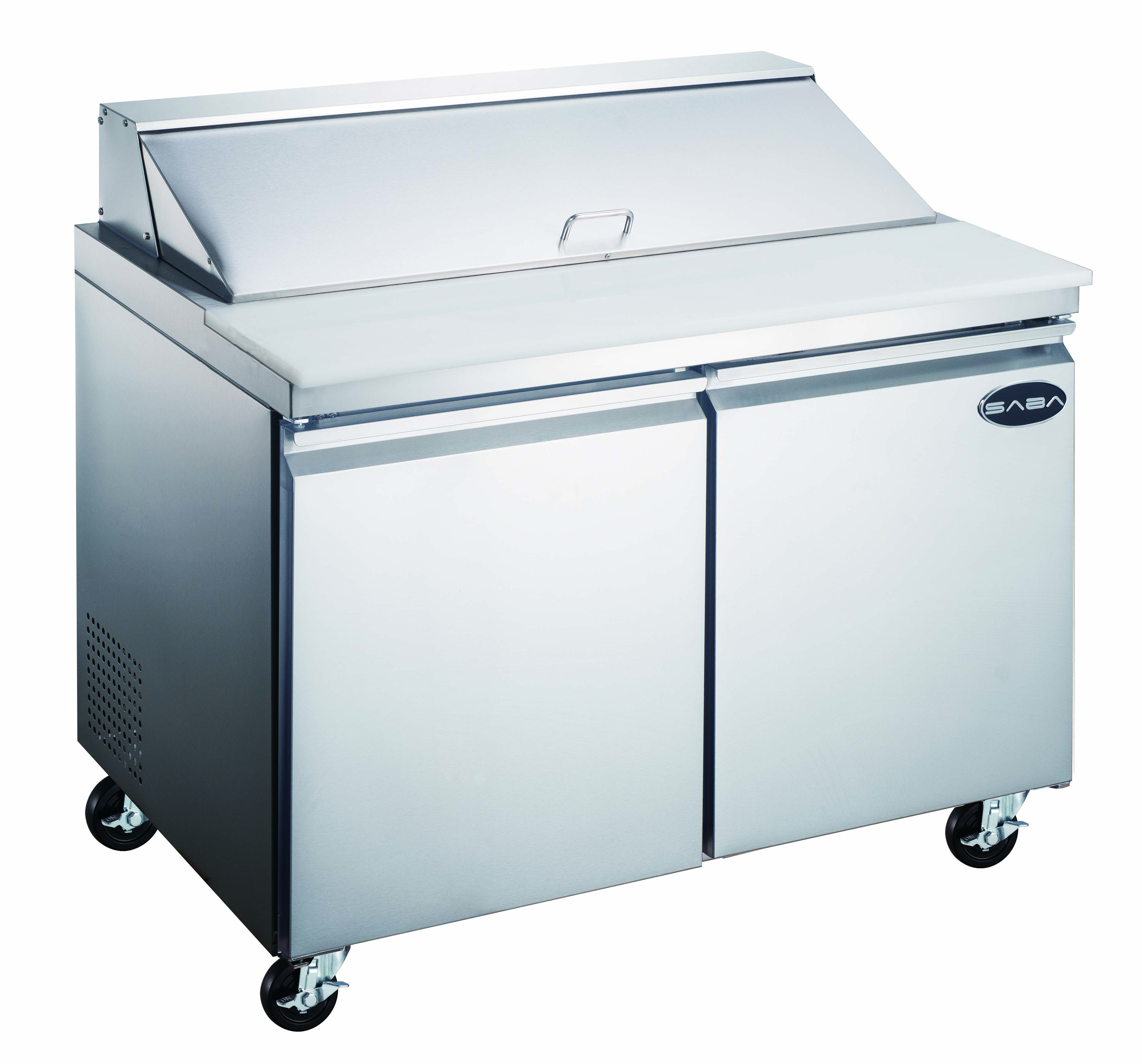 "Heavy Duty Commercial 60"" (2 Door) Sandwich/Salad Prep Table Refrigerator"