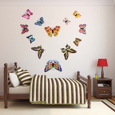 3d Glow In The Dark Butterfly Wall Ceiling Decals Decor Removable Mural Stickers Home Kids Room Bedroom Decor Walmart Canada