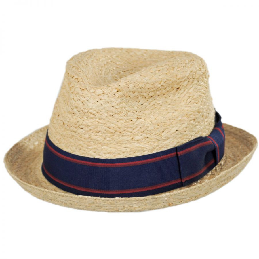 Golden Hill Raffia Straw Fedora Hat - XXL - Natural