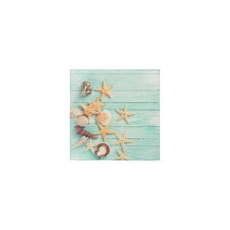 ZKGK Seashells Starfish Summer Hawaii Beach Seaside Nautical Green Wood Wooden Washcloth Dish Cloth Bath Towels For Bathroom Kitchen and Travel Use,13
