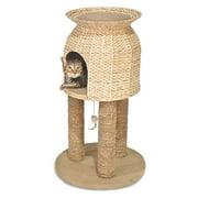Ware Hyacinth & Jute Scratch N Sleep Cat Tower