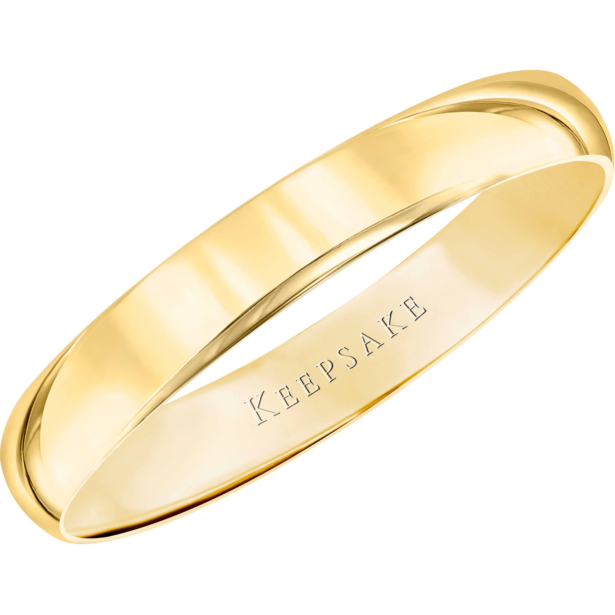 Keepsake 10kt Yellow Gold Wedding Band, 3mm