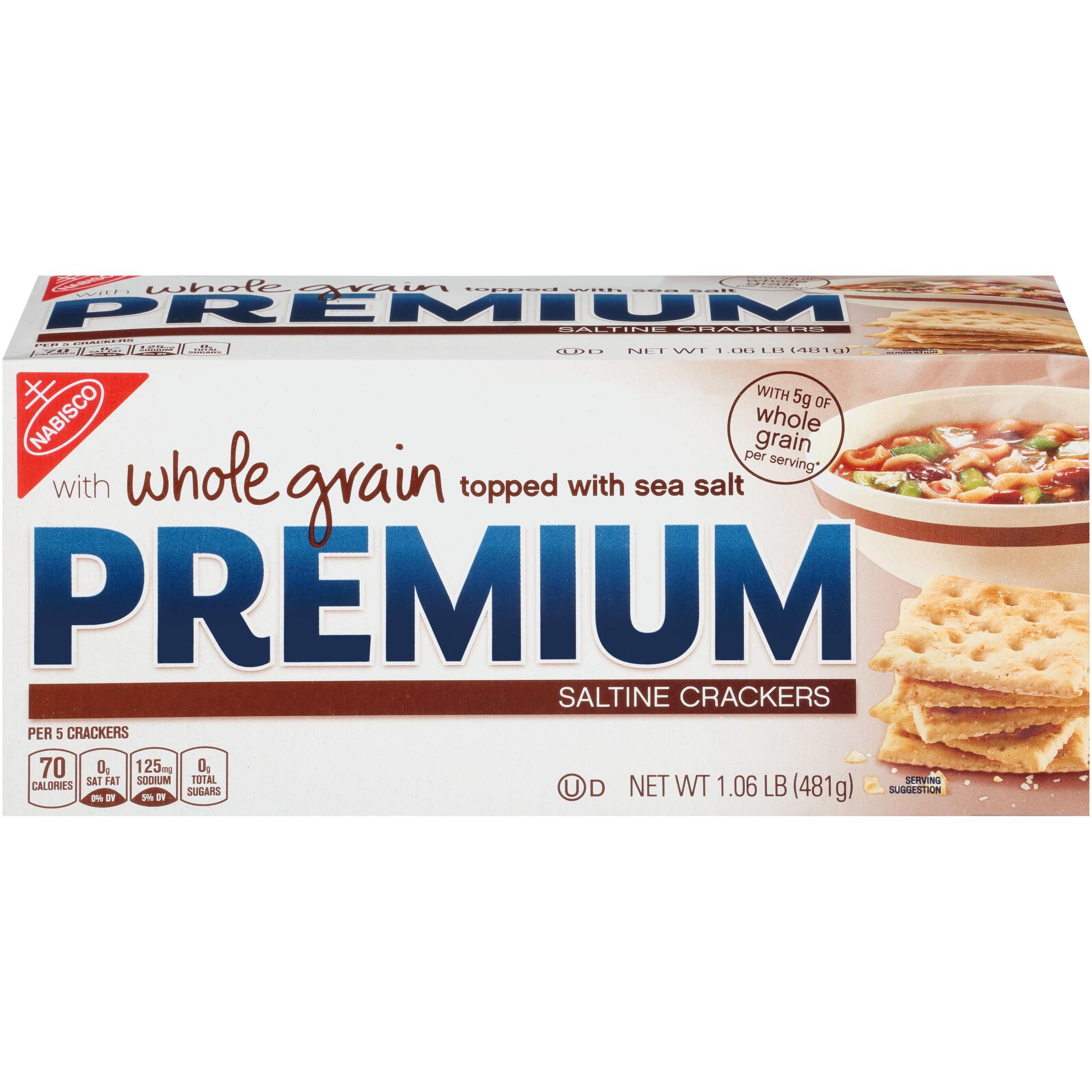 Premium Whole Grain Saltine Crackers, 1.1 Lb.