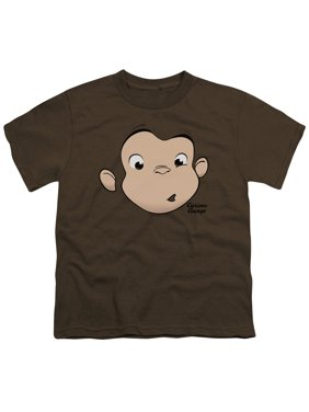 Curious George - George Face - Youth Short Sleeve Shirt - Large