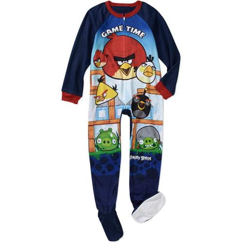 Rovio Boys' Angry Bird Footed Blanket Sleeper Pajamas
