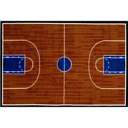 Boy Rag - Fun Rugs Children's Fun Time Collection, Basketball Court