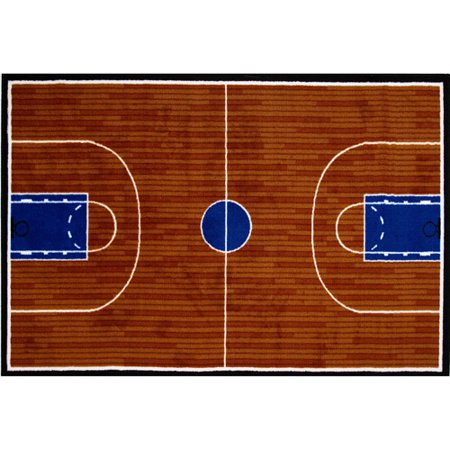 Fun rugs children 39 s fun time collection basketball court for How wide is a basketball court