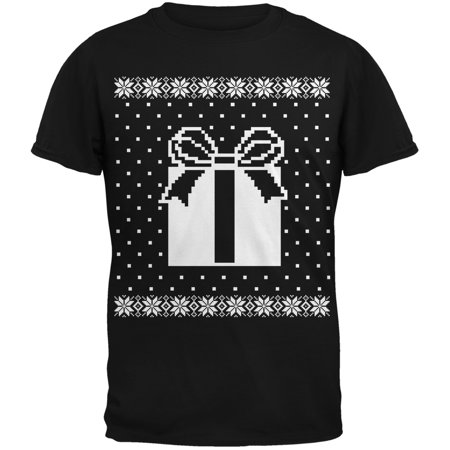 Big Present Ugly Sweater Black Youth T-Shirt ()