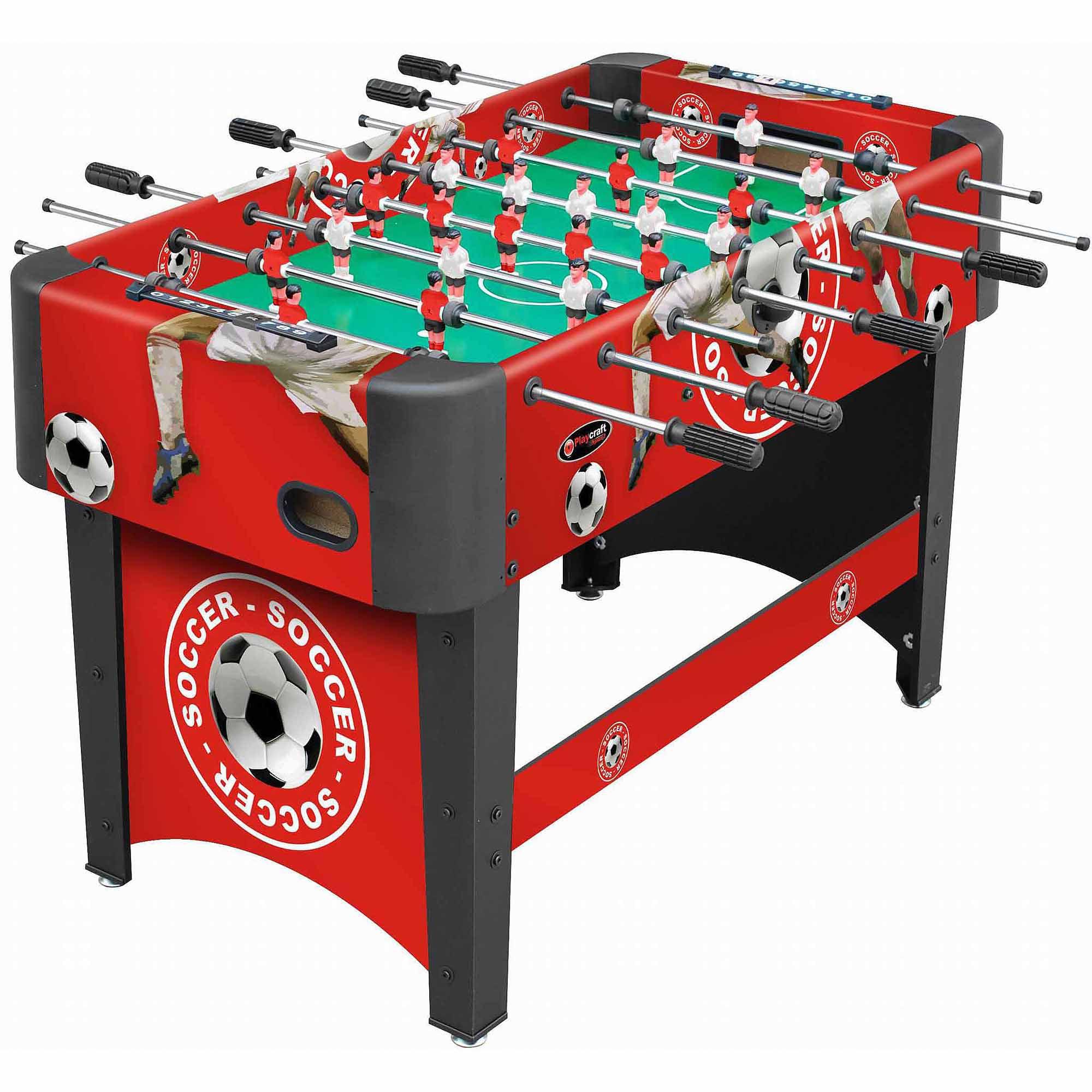 "Playcraft Sport 48"" Foosball Table, Red"