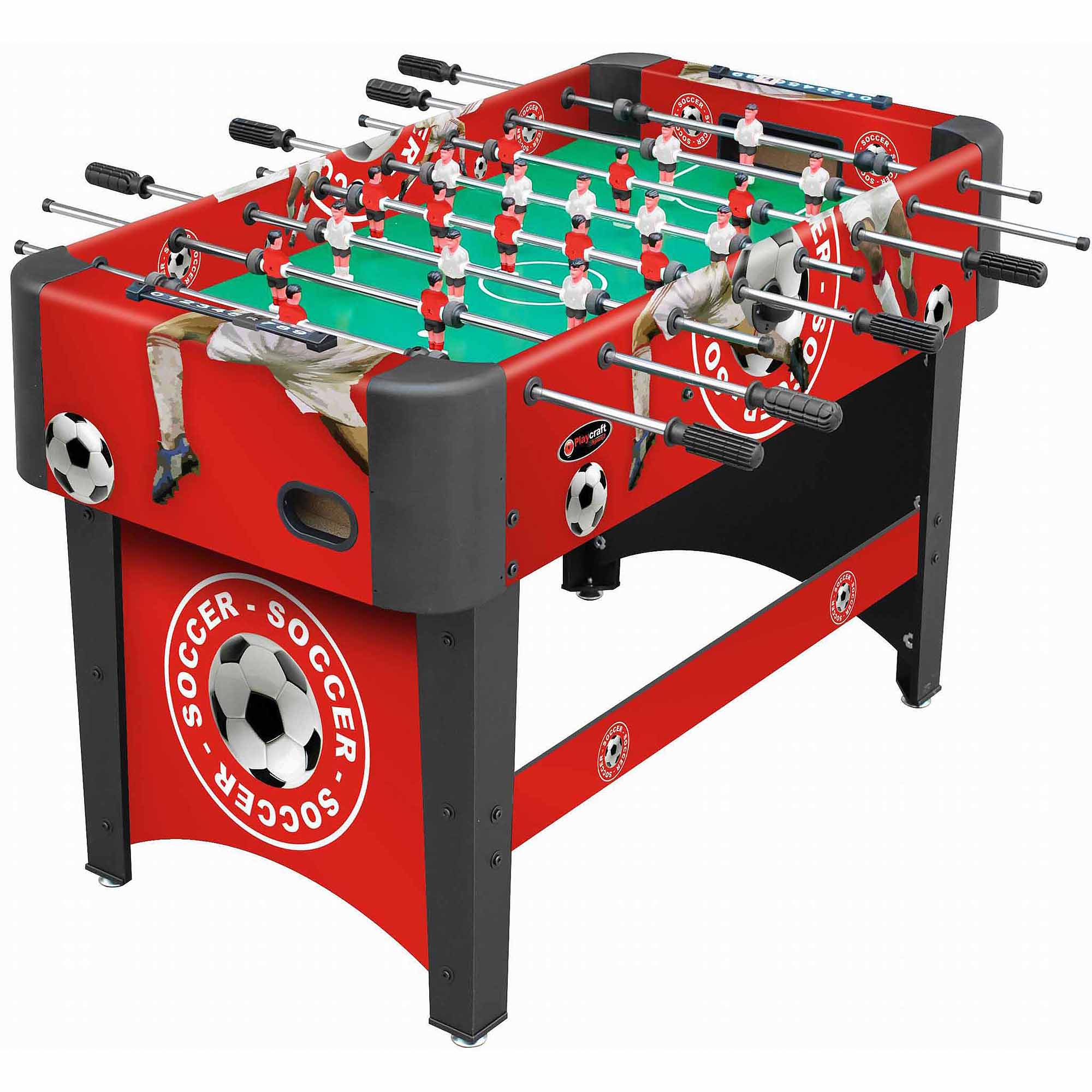 "Playcraft Sport 48"" Foosball Table, Red"