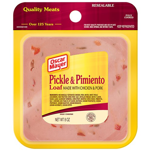Oscar Mayer Pickle & Pimiento Loaf, 8 oz